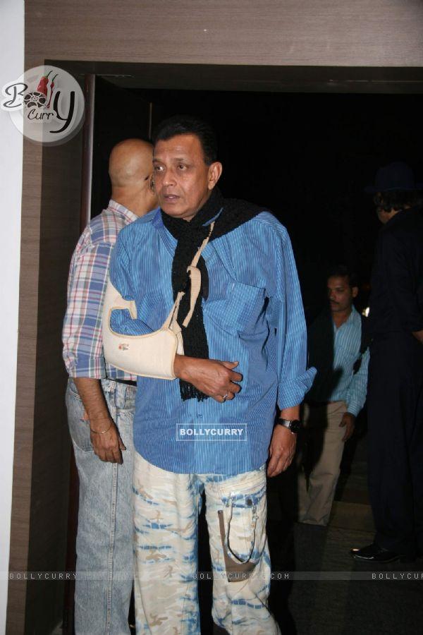"Bollywood actor Mithun Chakraborty at the screening of ""Veer"" (84209)"
