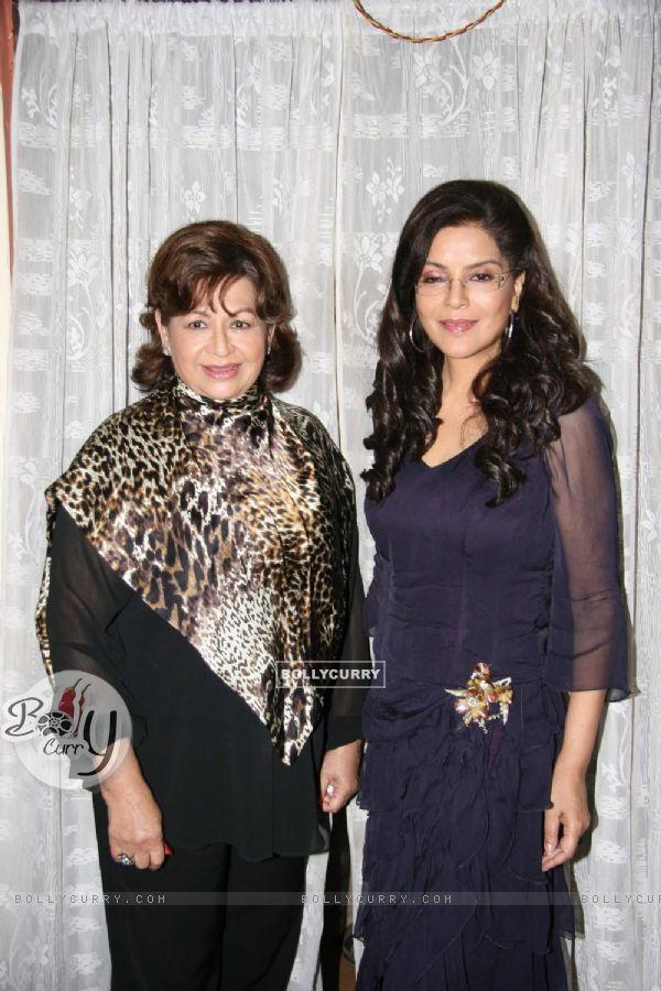 "Helen and Zeenat Aman on the Sets of Film ""Dunno Y Na Jaane Kyun"" at Andheri"