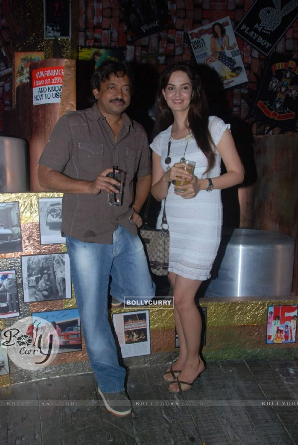 Ram Gopal Verma and Rukhsar at 100 Lounge opening