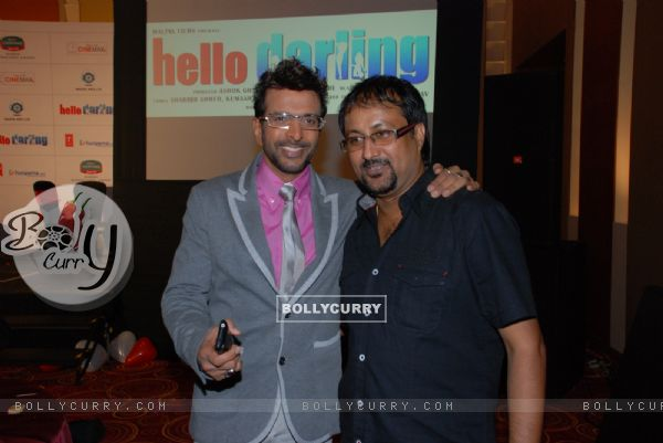 Javed Jaffery at music launch of the movie Hello Darling (92450)