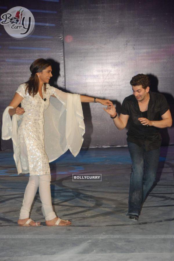 Neil Nitin Mukesh and Deepika Padukone at Lafangey Parindey film press meet at Yashraj Studios (93563)