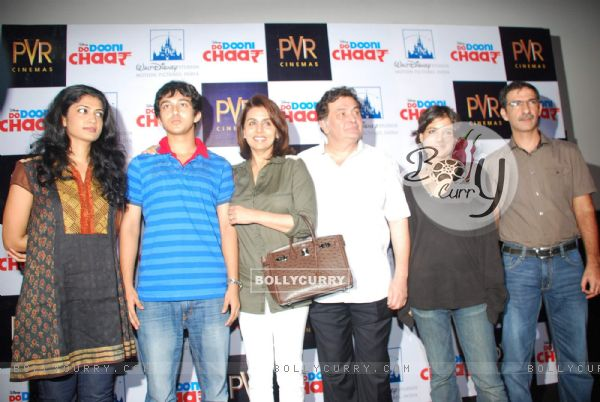Rishi and Neetu Kapoor at Do Dooni Chaar Press Conference at PVR