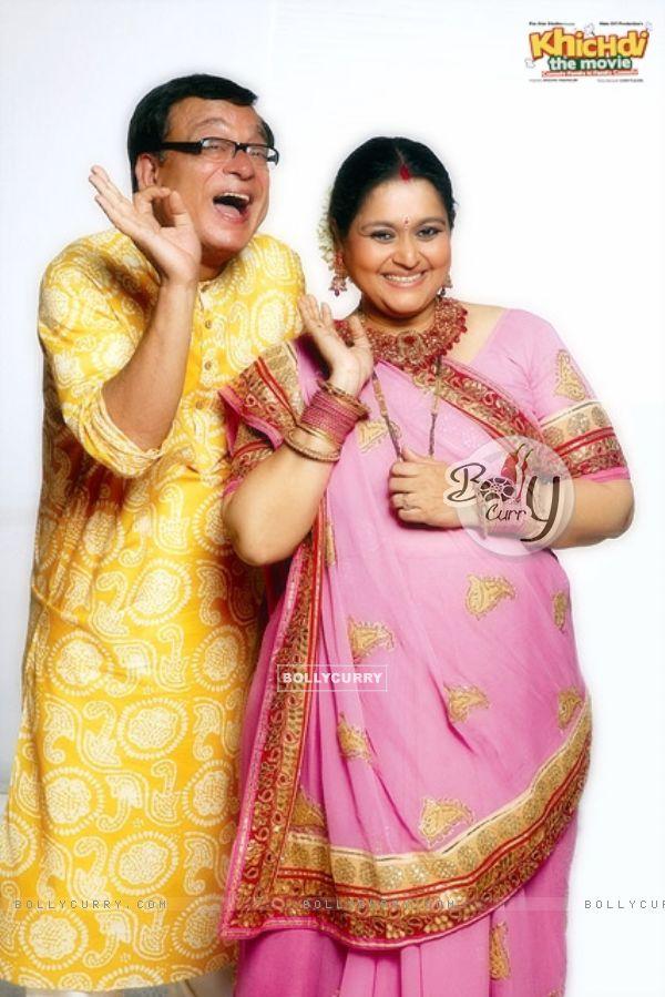 Rajeev Mehta and Supriya Pathak in the movie Khichdi - The Movie