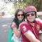 Mugdha & Sumeet on a bike