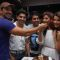 Gurmeet, Debina with Abhinav Shukla & friends
