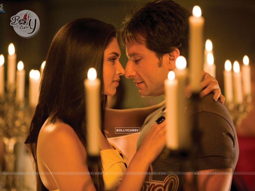 Deepika Padukone and Saif around Candles (11030) size:1024x768