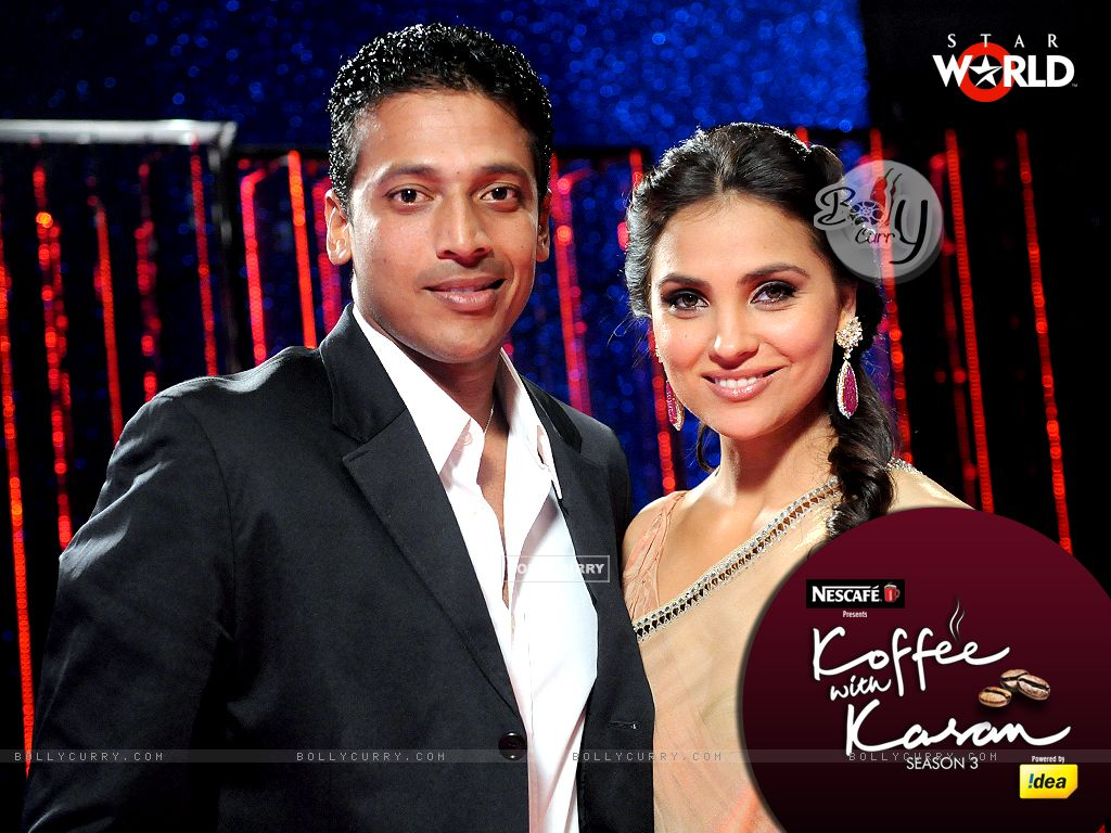 Lara Dutta with Mahesh Bhupati on Koffee with Karan (149345) size:1024x768