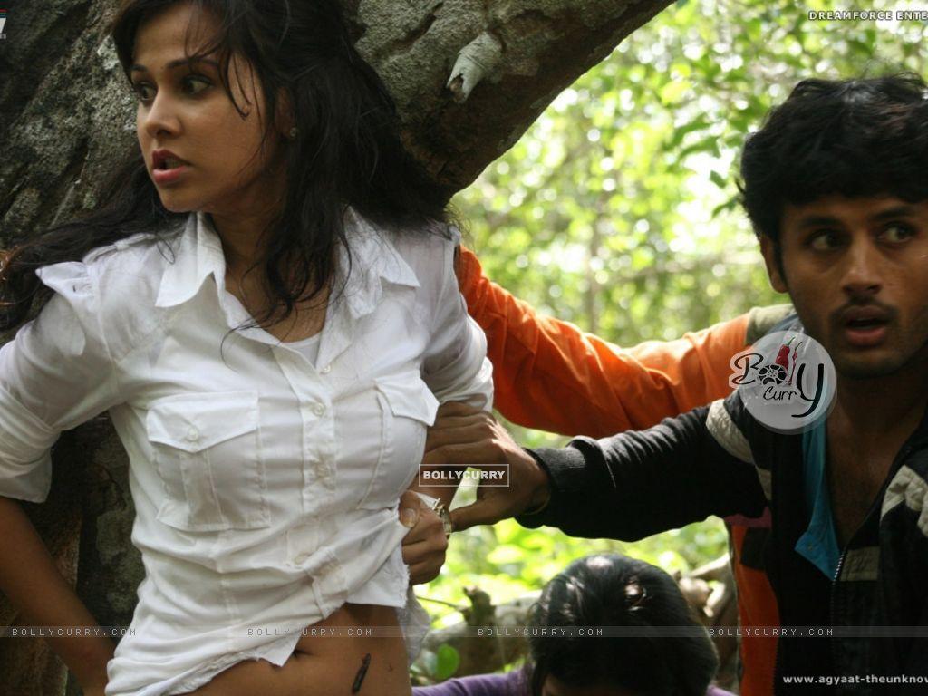 Nitin Reddy and Nisha Kothari in Agyaat movie (20388) size:1024x768