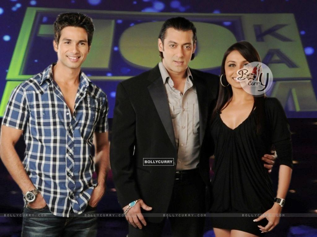 Salman Khan with Shahid Kapoor and Rani Mukherjee (37742) size:1024x768