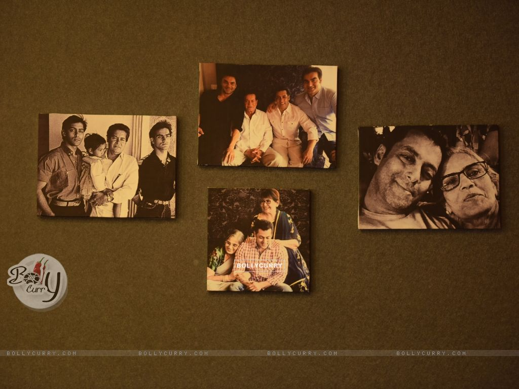 Collage of Family Pictures on the Bedroom Wall in Salman Khan's Chalet at Bigg Boss Nau (380799) size:1024x768