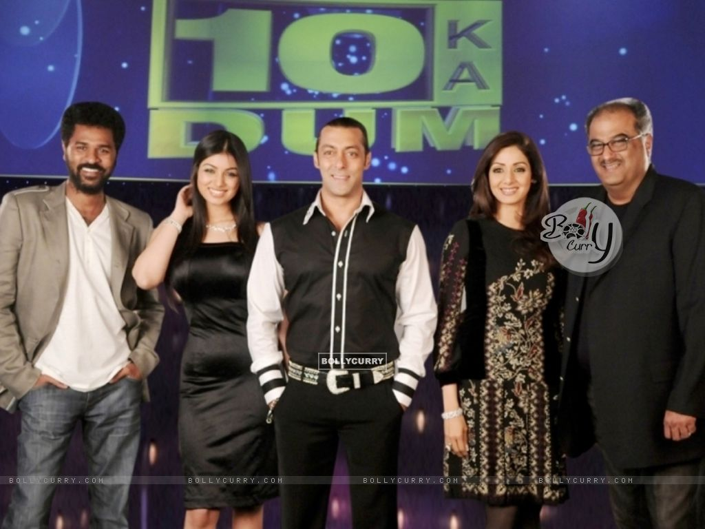 Salman Khan with Sridevi, Boney Kapoor, Prabhu Deva and Ayesha Takia (38090) size:1024x768