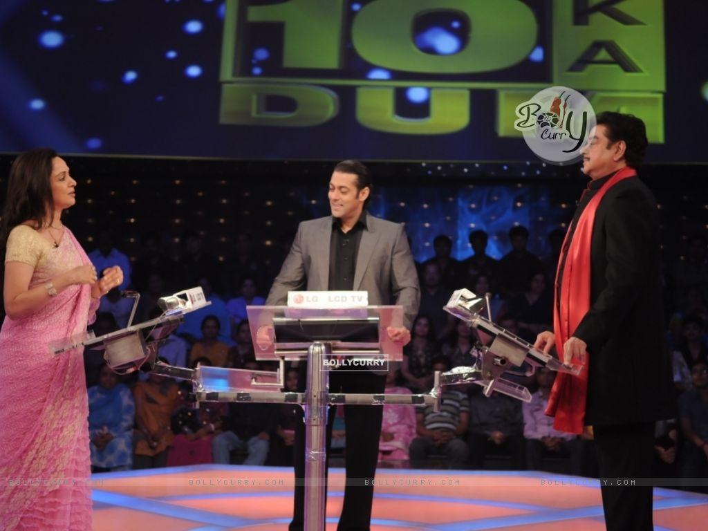 Shatrughan Sinha and Hema Malini playing 10 Ka Dum (38559) size:1024x768