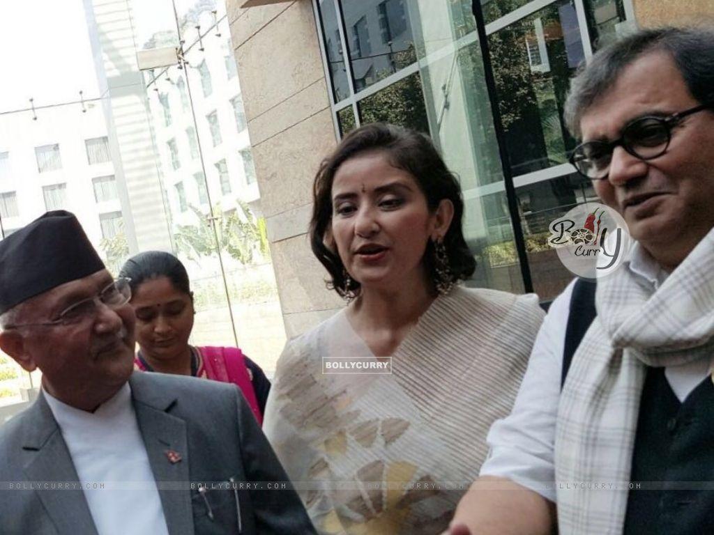 Subhash Ghai with Manisha Koirala meets Nepal PM (397942) size:1024x768