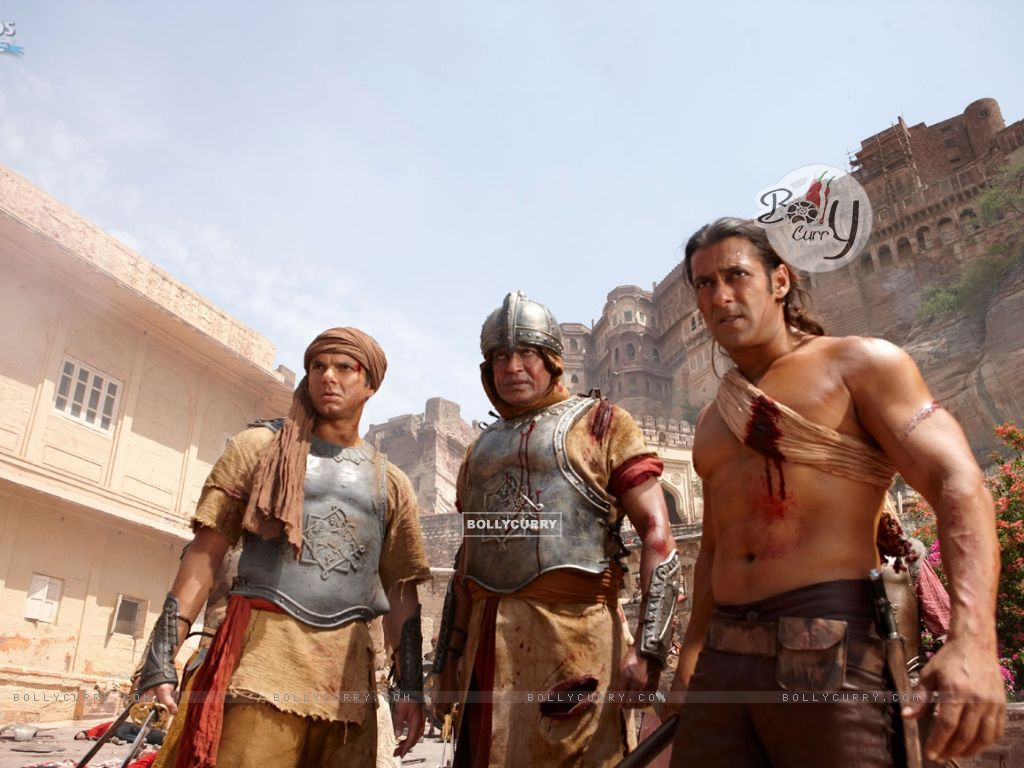 Mithun Chakraborty, Salman and Sohail Khan in Veer movie (39867) size:1024x768