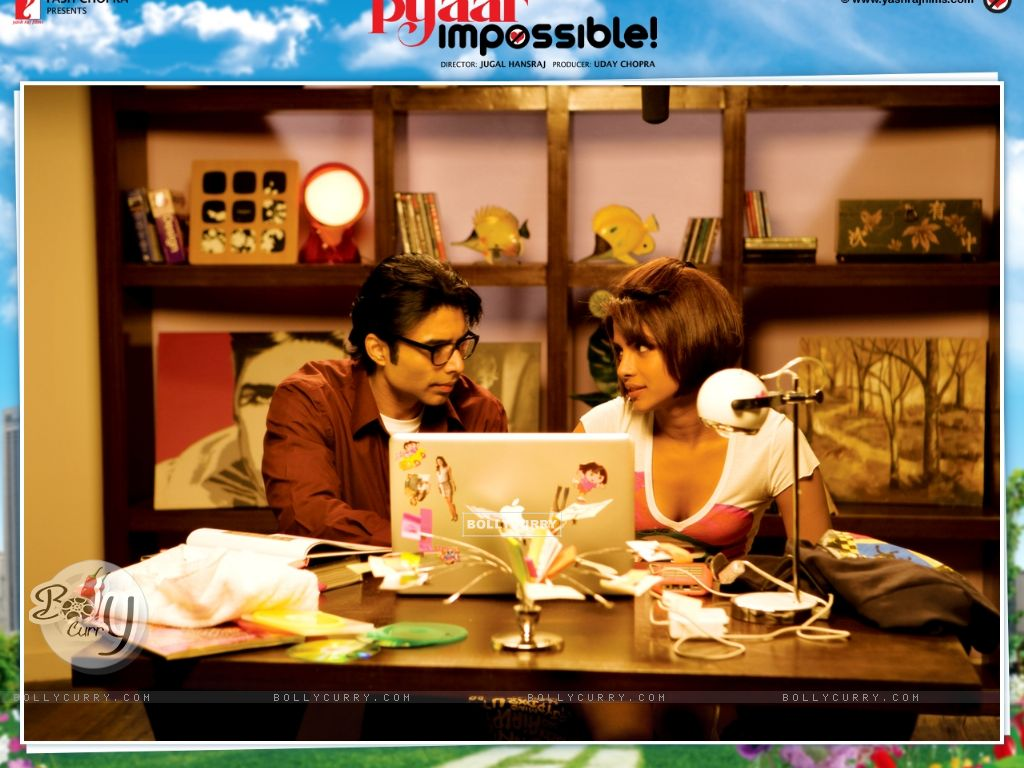 Pyaar Impossible movie wallpaper with Priyanka and Uday (40424) size:1024x768