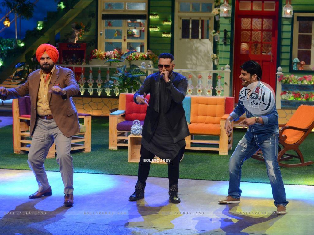 Navjot Singh Siddhu, Honey Singh and Kapil SharmaThe Kapil Sharma Show (404572) size:1024x768
