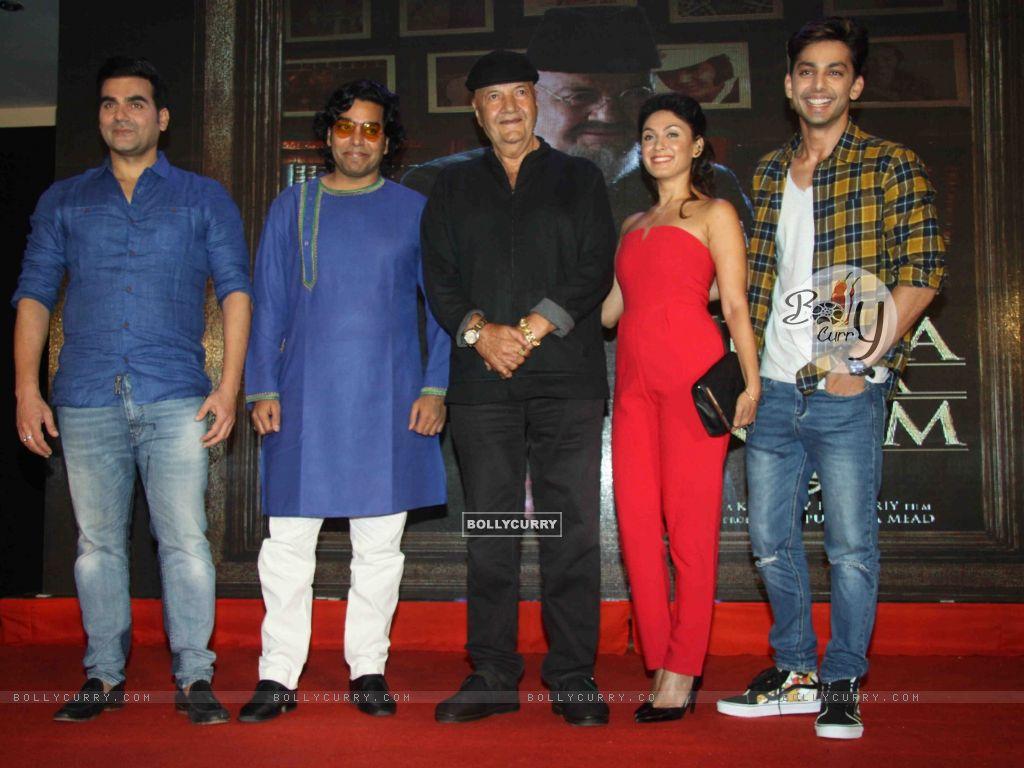 Arbaaz Khan, Ashutosh Rana, Prem Chopra, Manjari Fadnis at Launch of film 'Jeena Isi Ka Naam Hai' (409829) size:1024x768