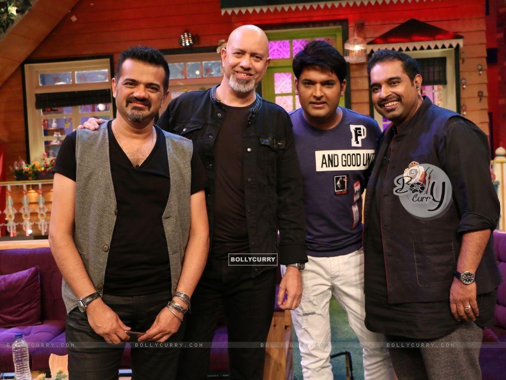 Shankar Ehsaan Loy on the sets of The Kapil Sharma Show (421548) size:1024x768