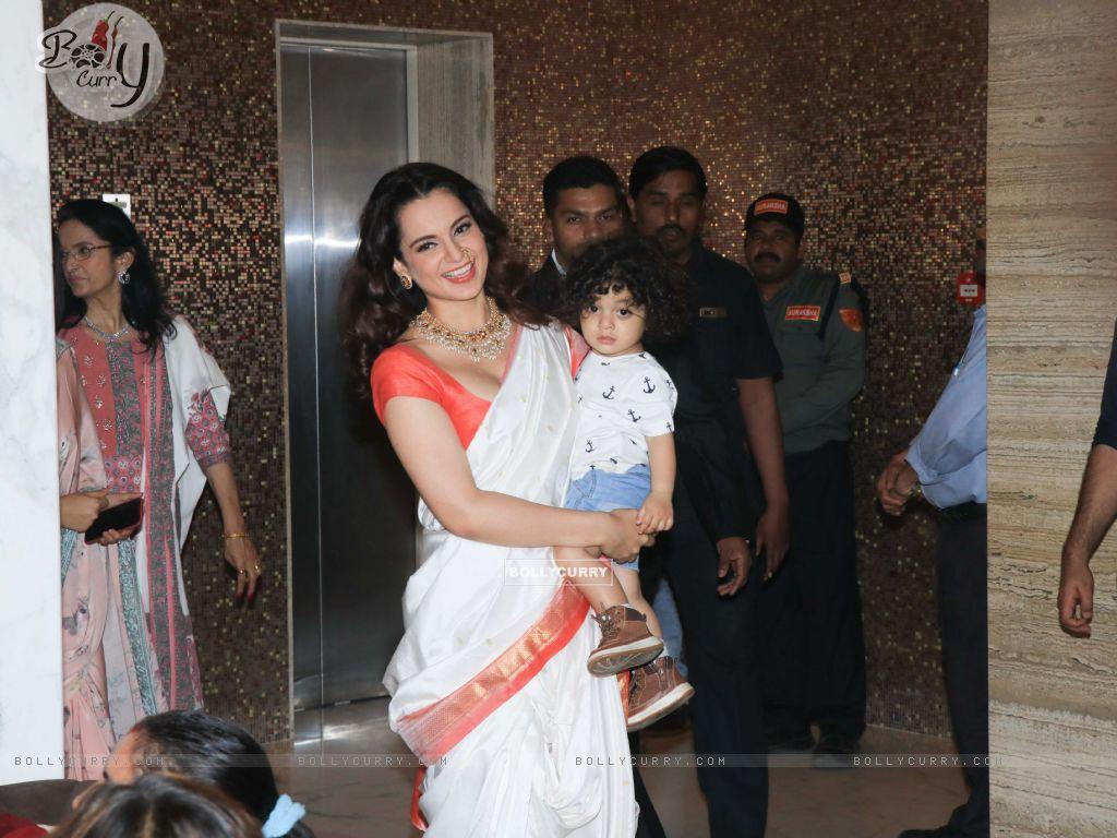 Bollywood actress Kangana Ranaut snapped at Manikarnika Success bash! (445385) size:1024x768