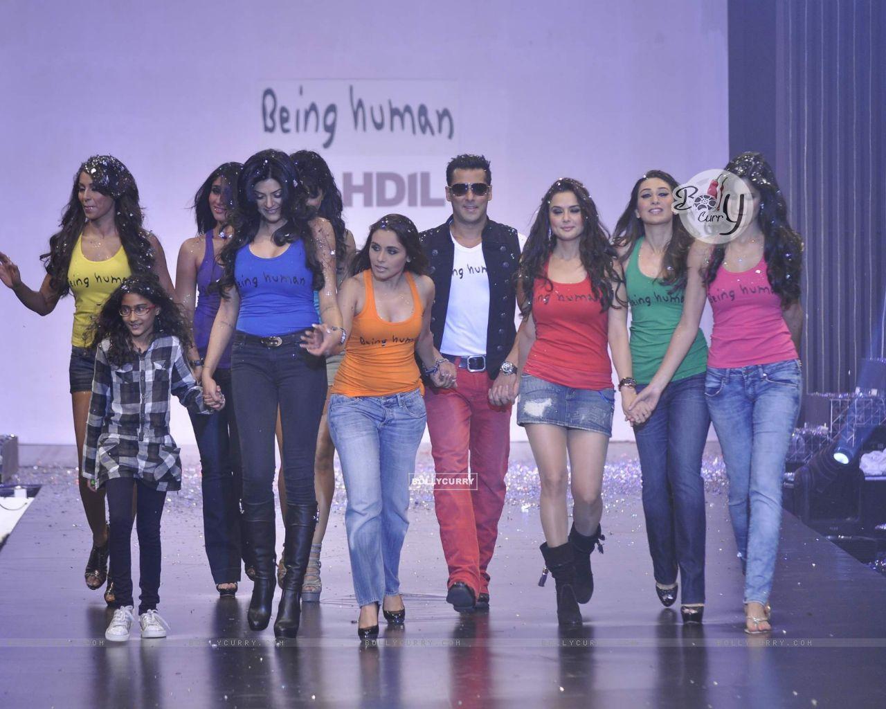 Salman Khan With Karishma Rani Sushmita Preity Priyanka Bipasha Katrina