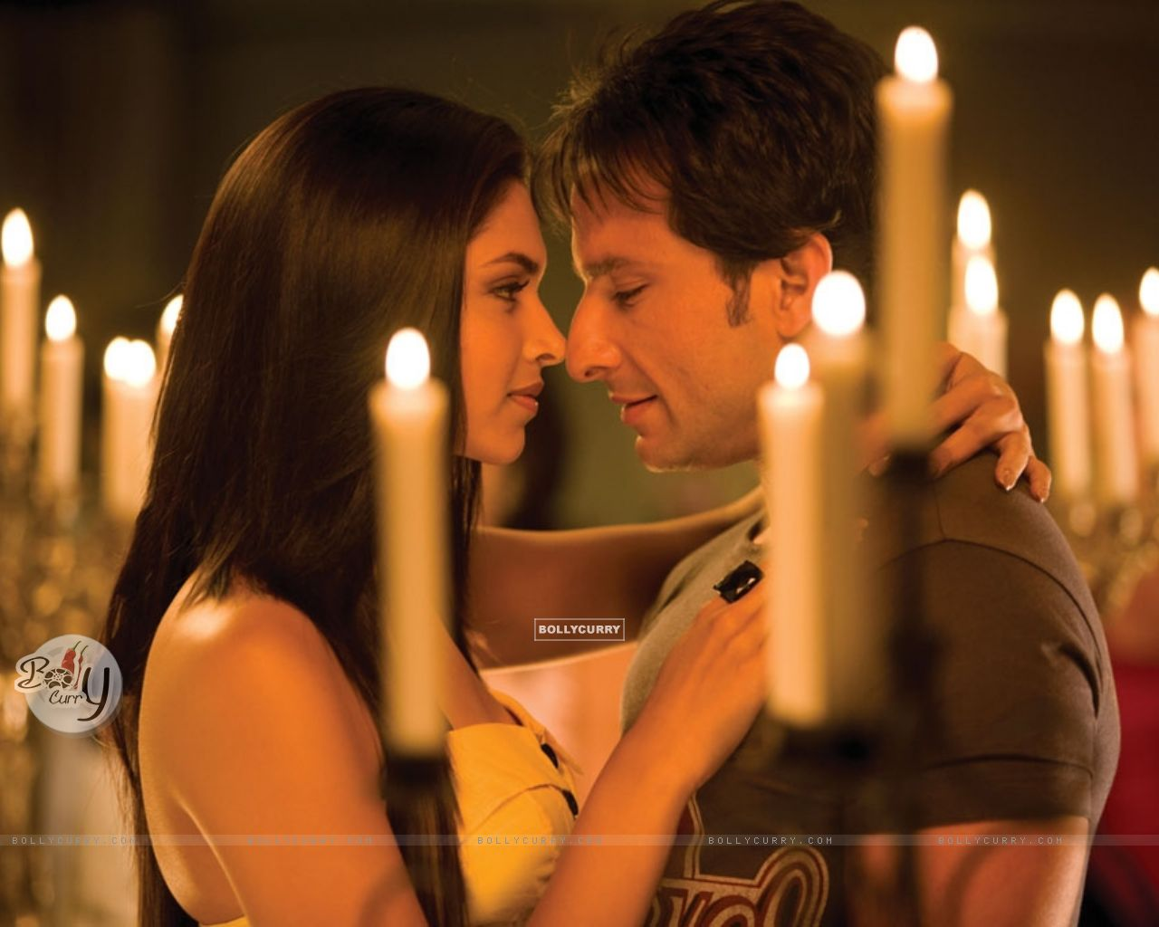 Deepika Padukone and Saif around Candles (11030) size:1280x1024