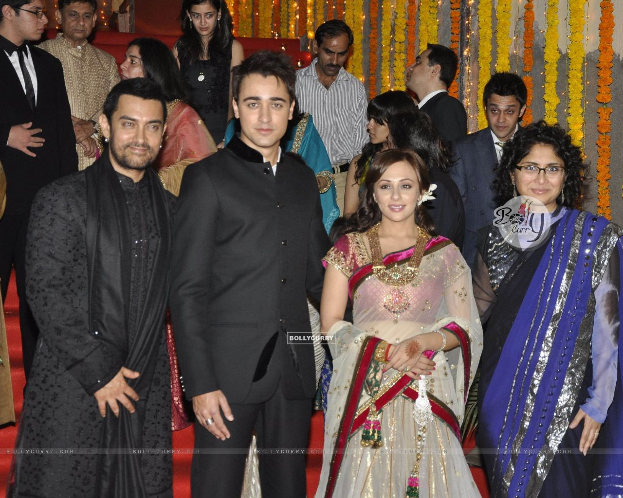 Aamir Khan with Kiran Rao at nephew Imran Khan's wedding ceremony with