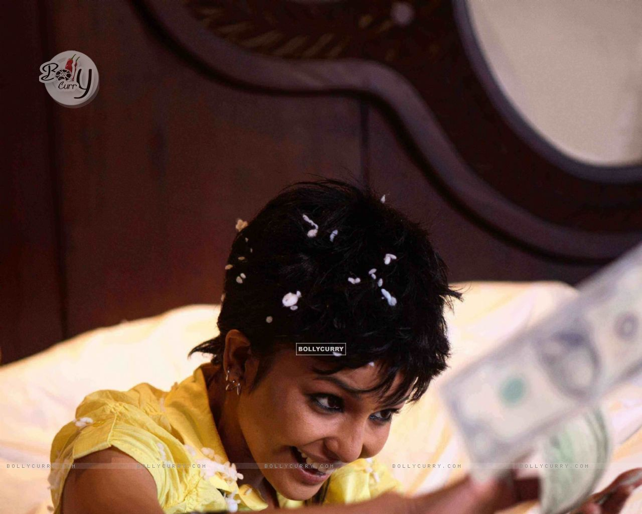 Chitrashi Rawat looking happy with dollars (15646) size:1280x1024