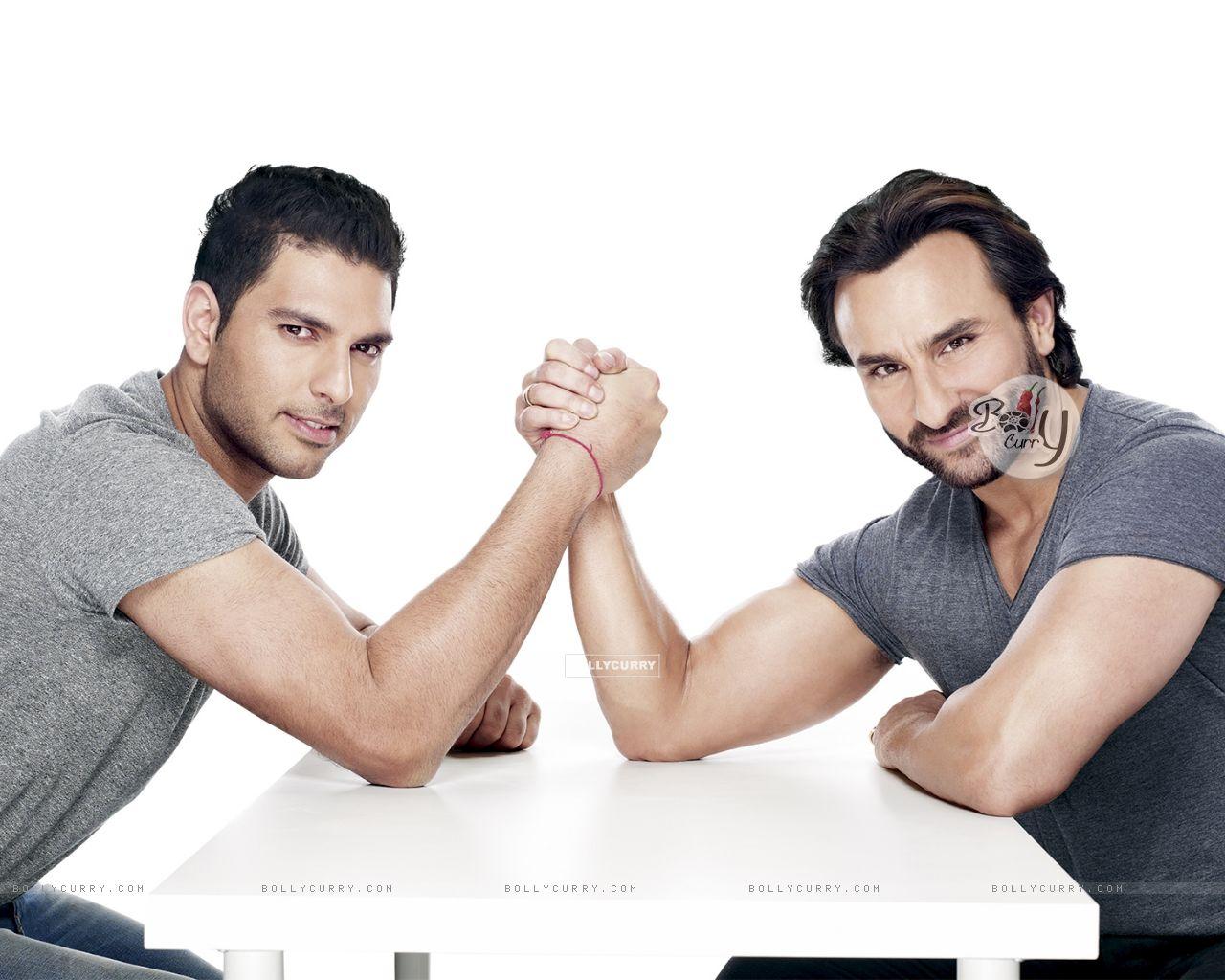 Yuvraj Singh and Saif Ali Khan (344580) size:1280x1024