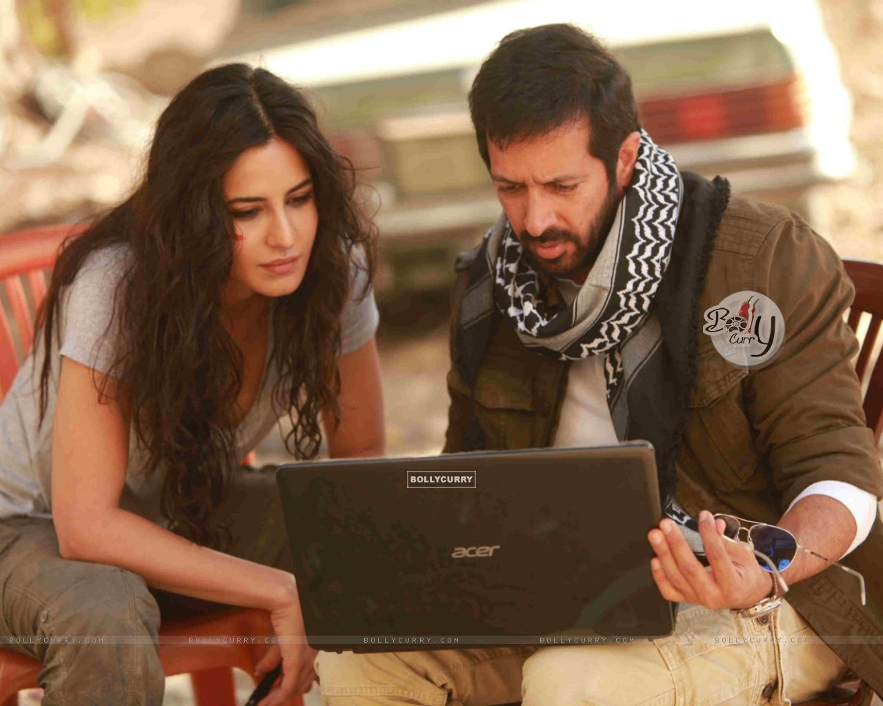Kabir Khan and Katrina on Sets of Phantom (376121) size:1280x1024