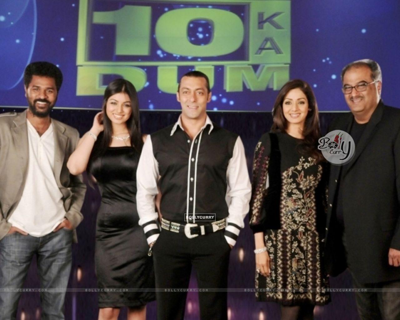 Salman Khan with Sridevi, Boney Kapoor, Prabhu Deva and Ayesha Takia (38090) size:1280x1024