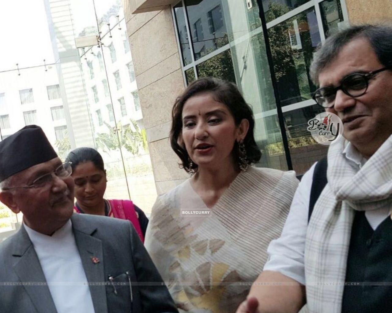 Subhash Ghai with Manisha Koirala meets Nepal PM (397942) size:1280x1024