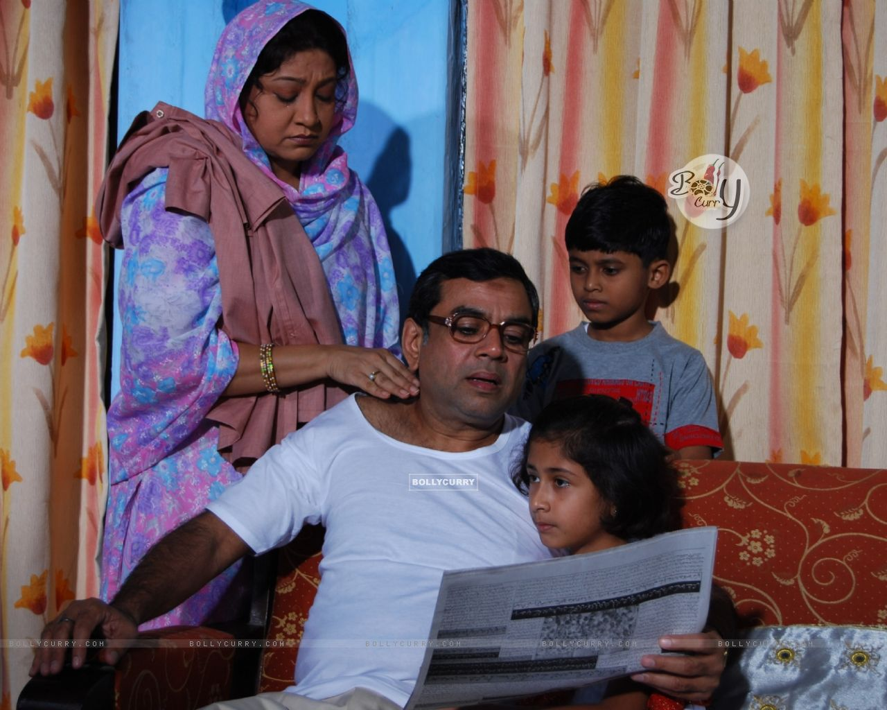 Paresh Rawal with his wife and children | Paresh Rawal ...