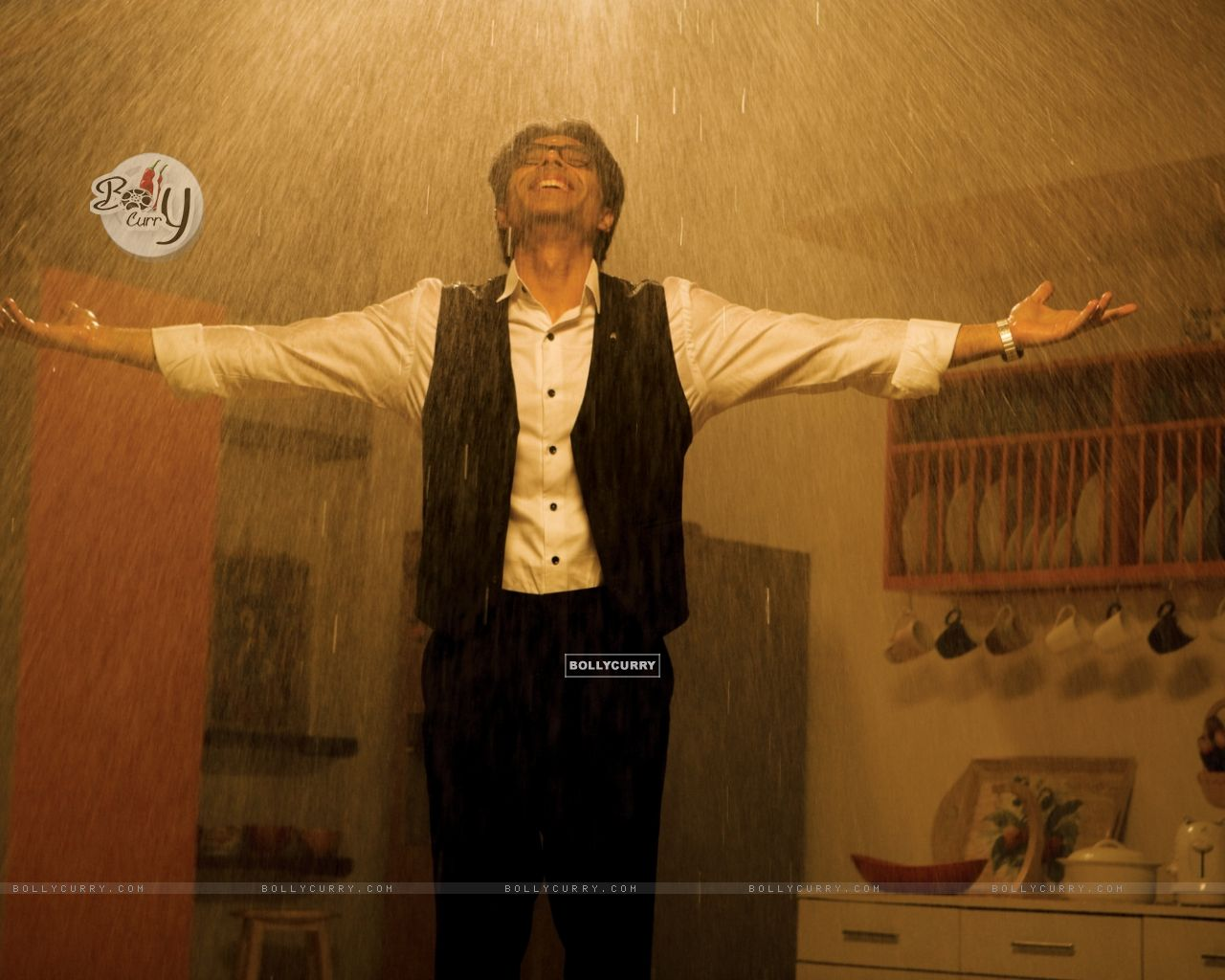 Uday Chopra enjoying rain (40380) size:1280x1024