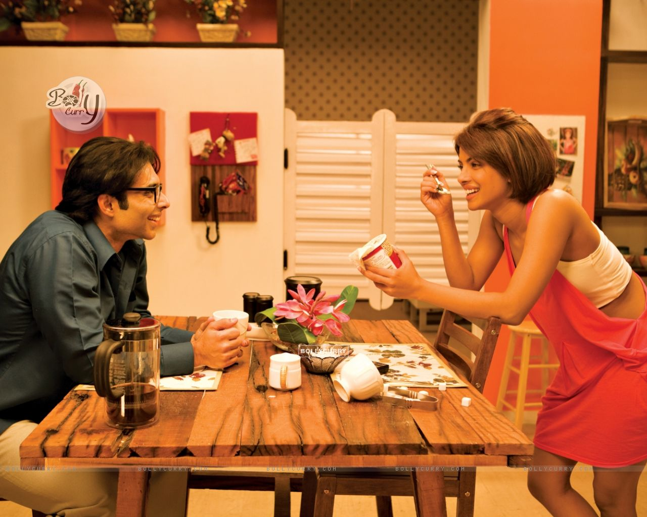 Uday Chopra having coffee with Priyanka Chopra (40381) size:1280x1024