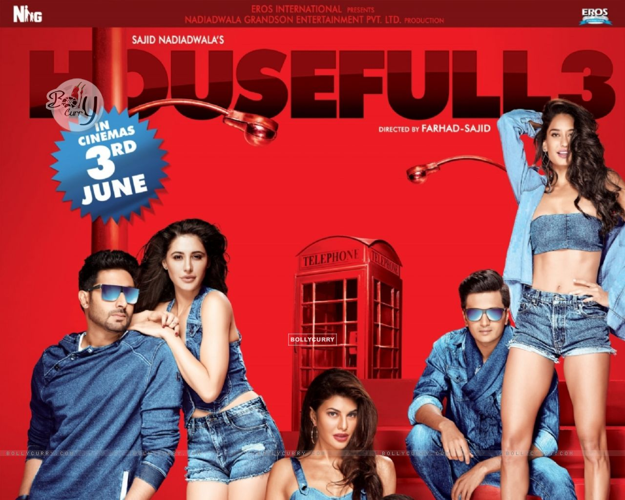 Poster of the film 'Housefull 3' (403919) size:1280x1024
