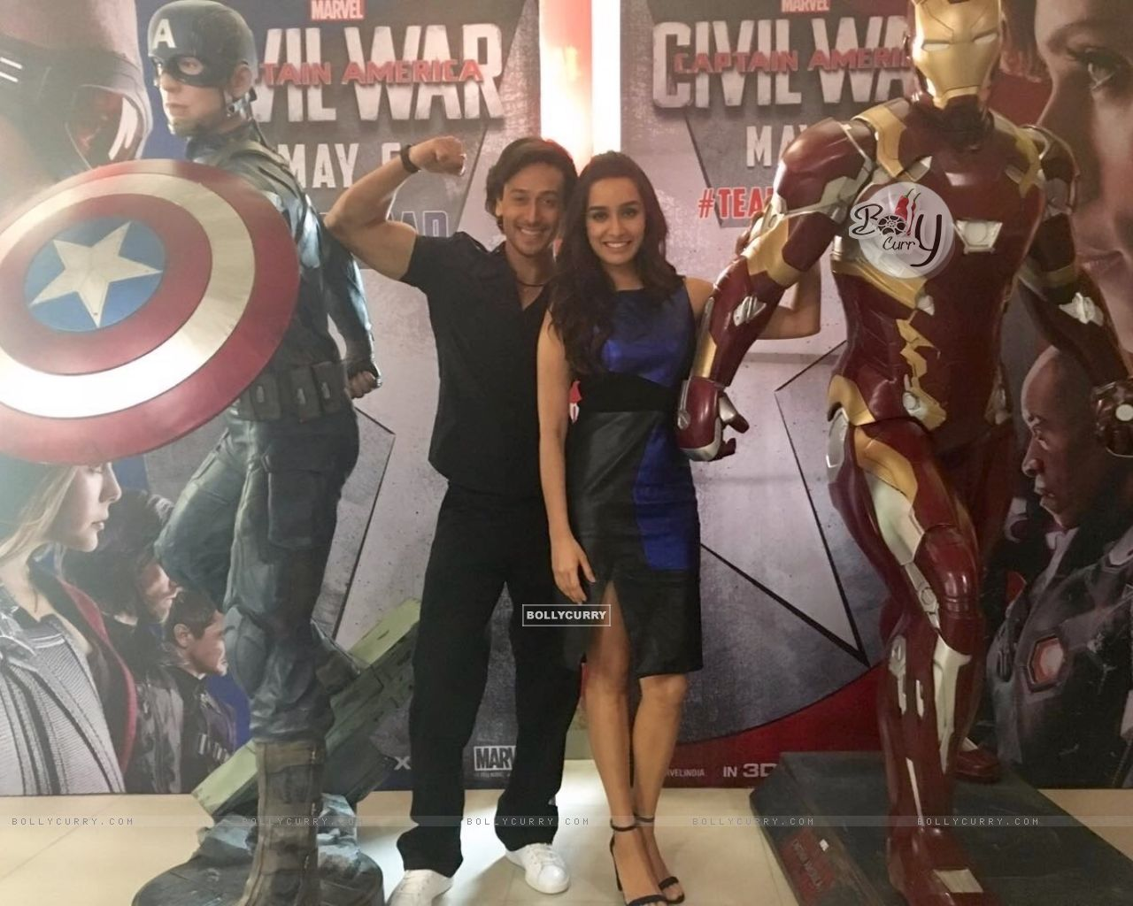 Tiger Shroff as Captain America and Shraddha Kapoor as Ironman for Captain America: Civil War (404361) size:1280x1024