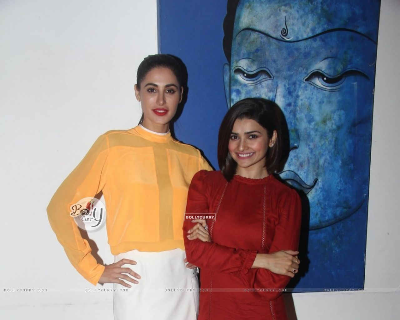 Prachi Desai and Nargis Fakhri at Media Interactions of Azhar (404471) size:1280x1024