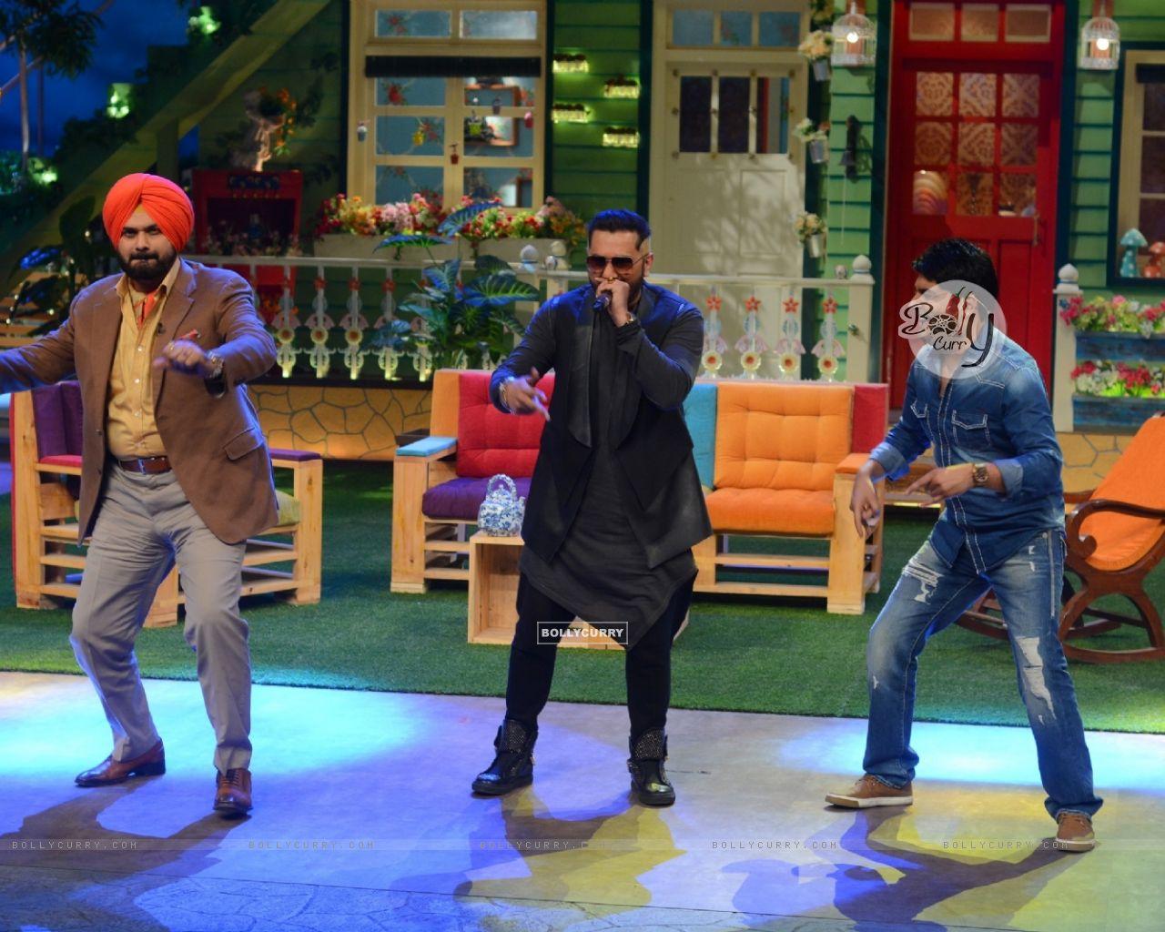 Navjot Singh Siddhu, Honey Singh and Kapil SharmaThe Kapil Sharma Show (404572) size:1280x1024