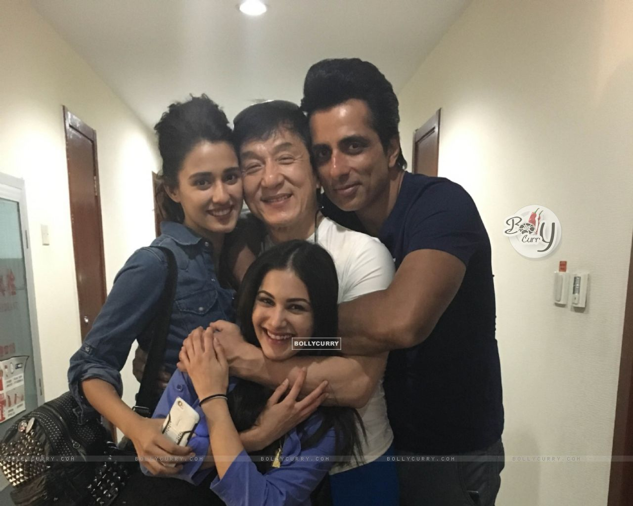 Amyra Dastur and Sonu Sood with Jackie Chan (406200) size:1280x1024
