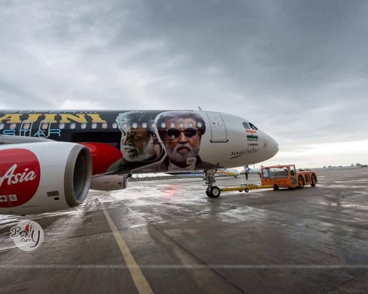 Kabali's unique style of promotion- Air Aisa promotes 'Kabali' (410991) size:1280x1024