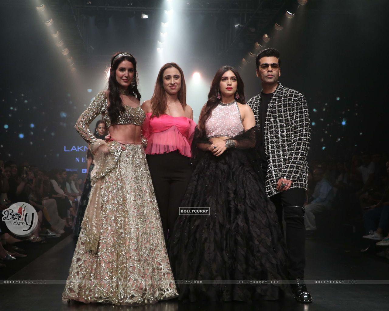 Isabelle Kaif, Bhumi Pednekar, Karan Johar snapped at Lakme Fashion Week (444189) size:1280x1024