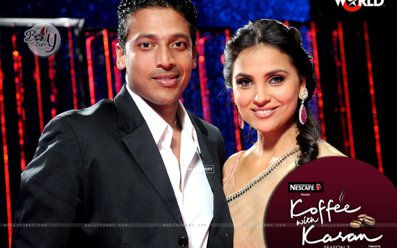 Lara Dutta with Mahesh Bhupati on Koffee with Karan (149345) size:1280x800