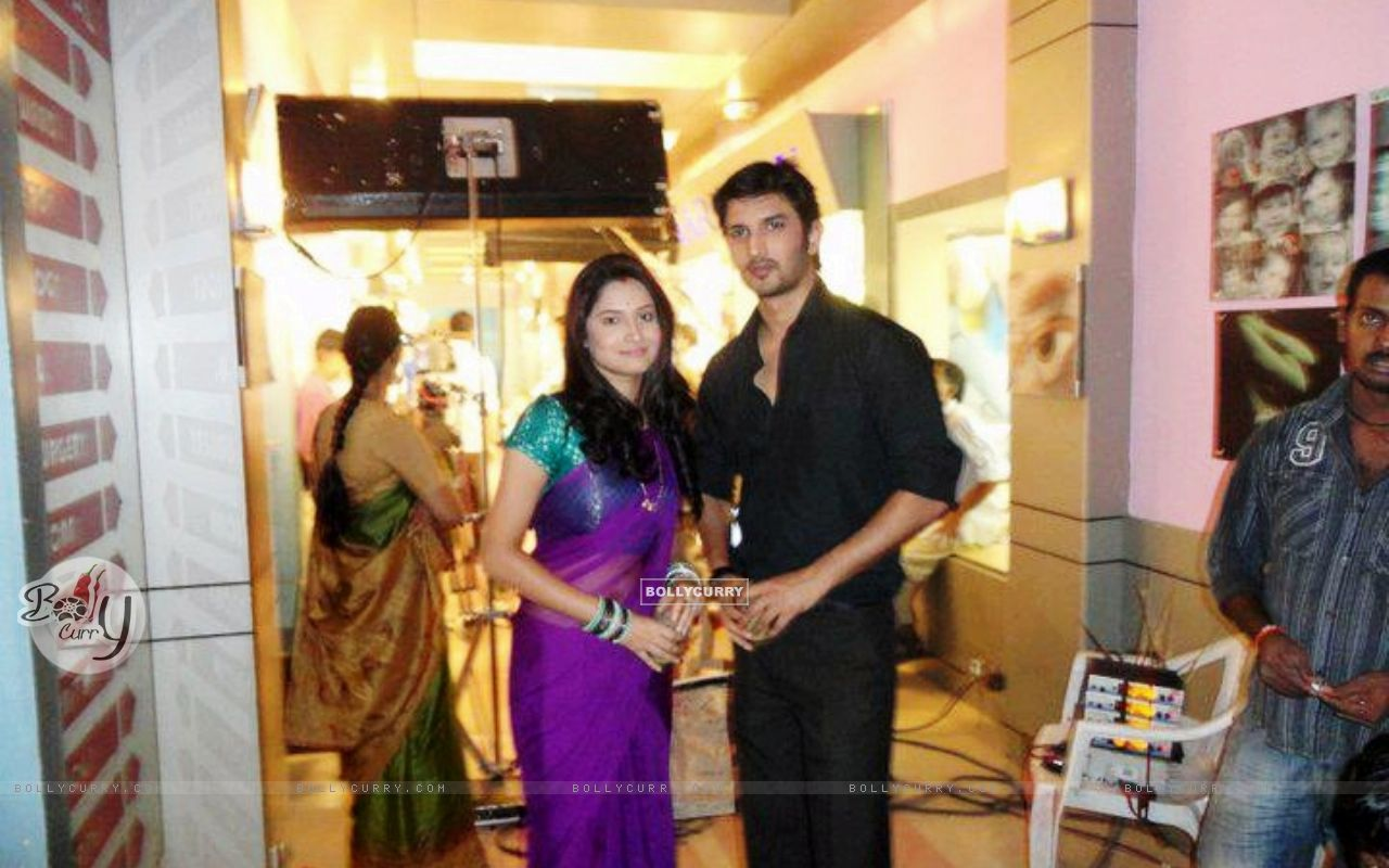 Sushant Singh Rajput and Ankita Lokhande Shooting For Pavitra Rishta ...