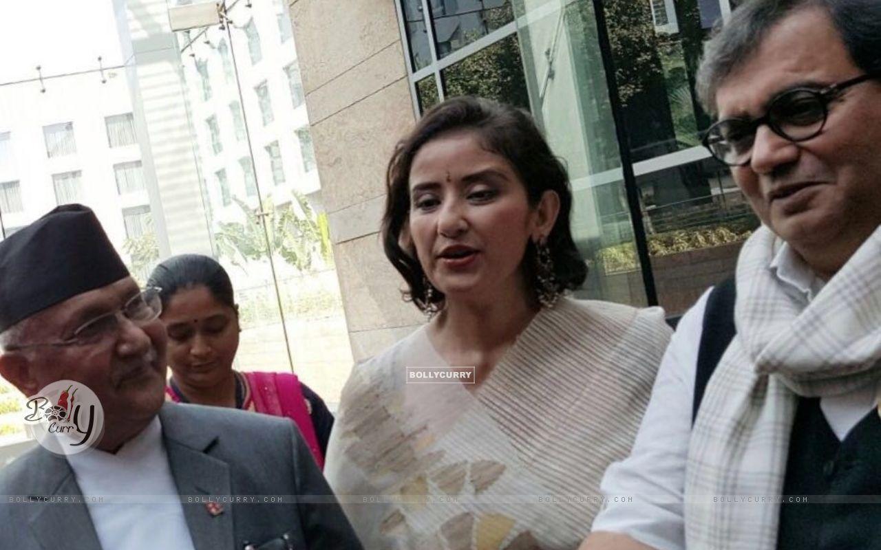 Subhash Ghai with Manisha Koirala meets Nepal PM (397942) size:1280x800
