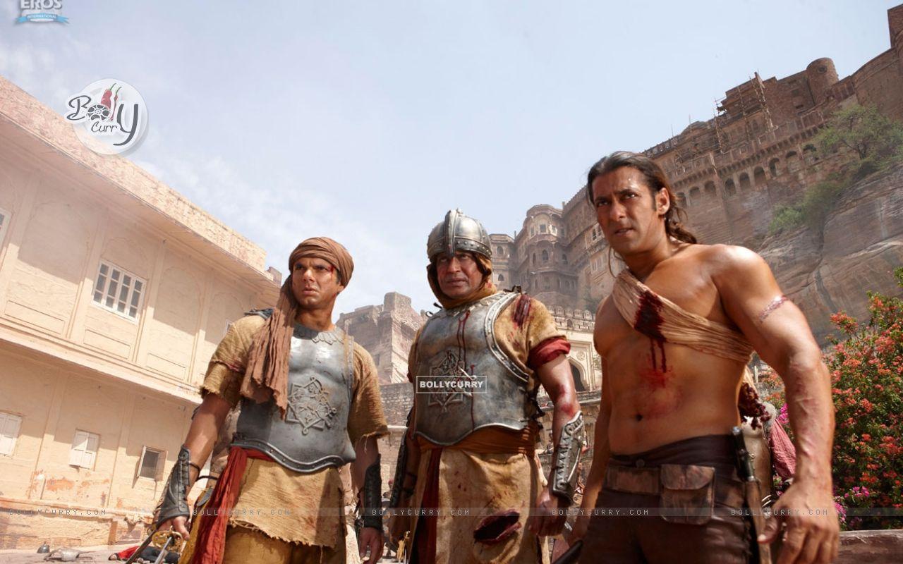 Mithun Chakraborty, Salman and Sohail Khan in Veer movie (39867) size:1280x800