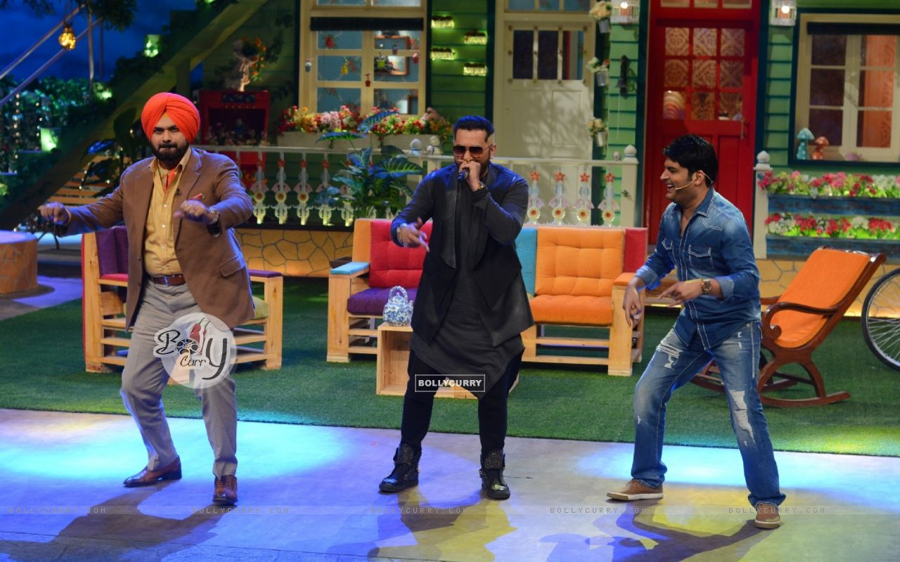 Navjot Singh Siddhu, Honey Singh and Kapil SharmaThe Kapil Sharma Show (404572) size:1280x800