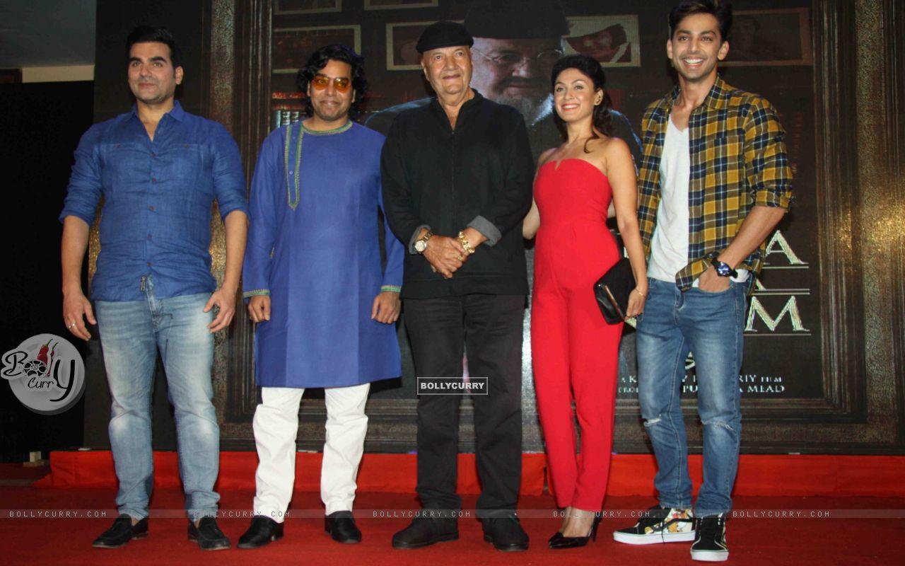 Arbaaz Khan, Ashutosh Rana, Prem Chopra, Manjari Fadnis at Launch of film 'Jeena Isi Ka Naam Hai' (409829) size:1280x800