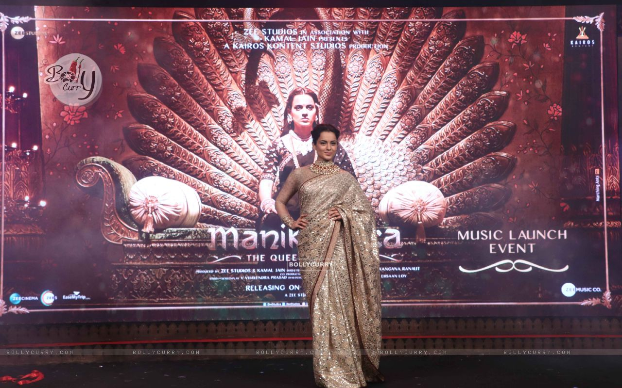 Kangana Ranaut spotted at Manikarnika music launch (443075) size:1280x800