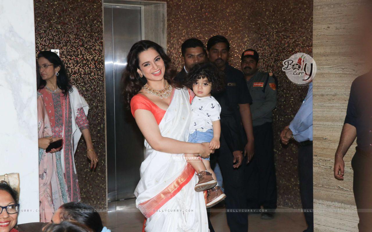 Bollywood actress Kangana Ranaut snapped at Manikarnika Success bash! (445385) size:1280x800