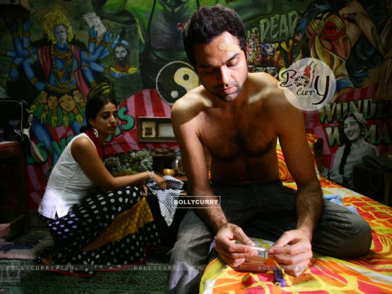 Abhay Deol and Mahie Gill in Dev D (12508) size:800x600